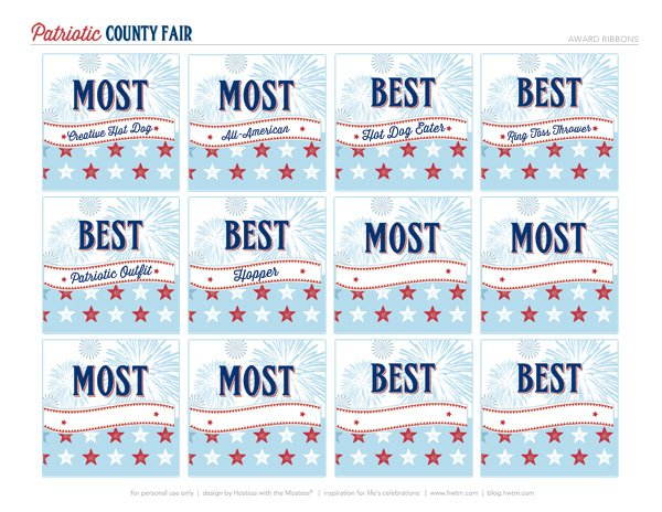 Blue Ribbon Award Printables
