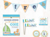 little sailor boy party printables collection on hostess ink