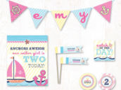 little sailor girl party printables collection on hostess ink
