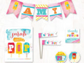 About to Pop Popsicle Themed baby shower party printables collection on hostess ink