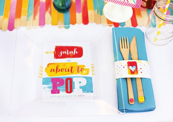 popsicle baby shower place setting