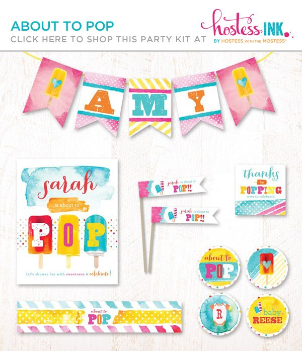 about to pop popsicle baby shower theme hostess with the mostess