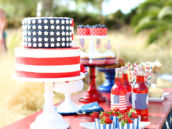 American Flag Cake with Stars & Stripes