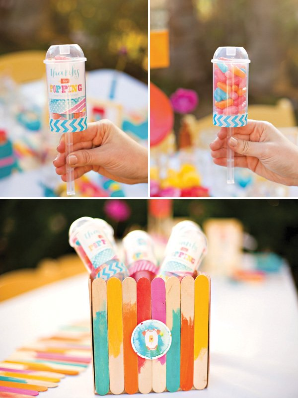 DIY popsicle party favors for a popsicle party