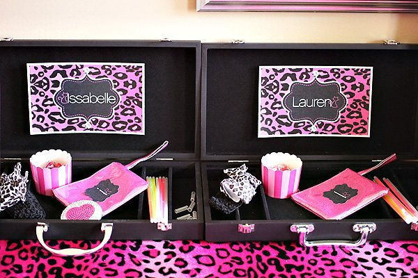 beauty bar for a tween party bar