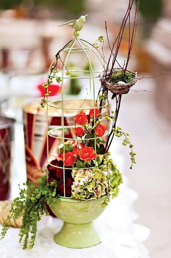 Bird theme wedding decorations