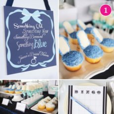blue bridal shower