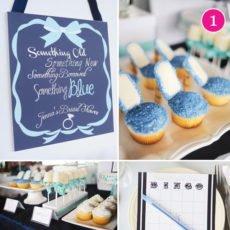 blue bridal shower