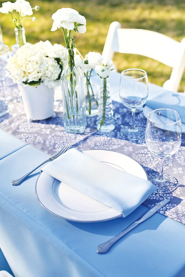 Blue Baby Shower Tablescape