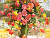 gorgeous floral bridal shower centerpiece