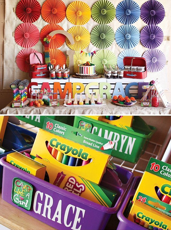 Arts and Crafts Rainbow Party
