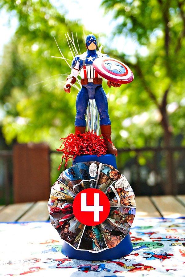 Captain America party decor