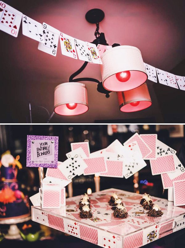 Playing Card Party Decoration Ideas