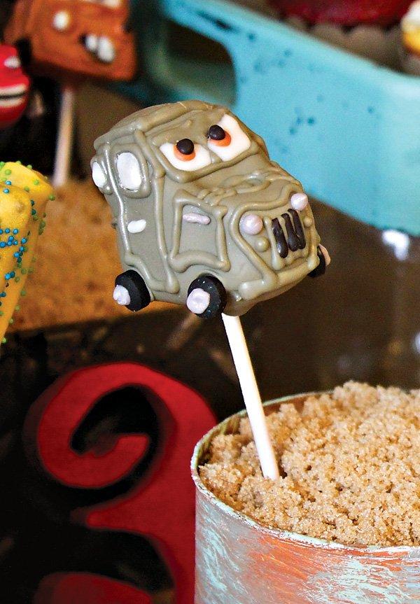 Cars Movie Cake Pops