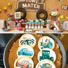 Cars Movie Themed Dessert Table