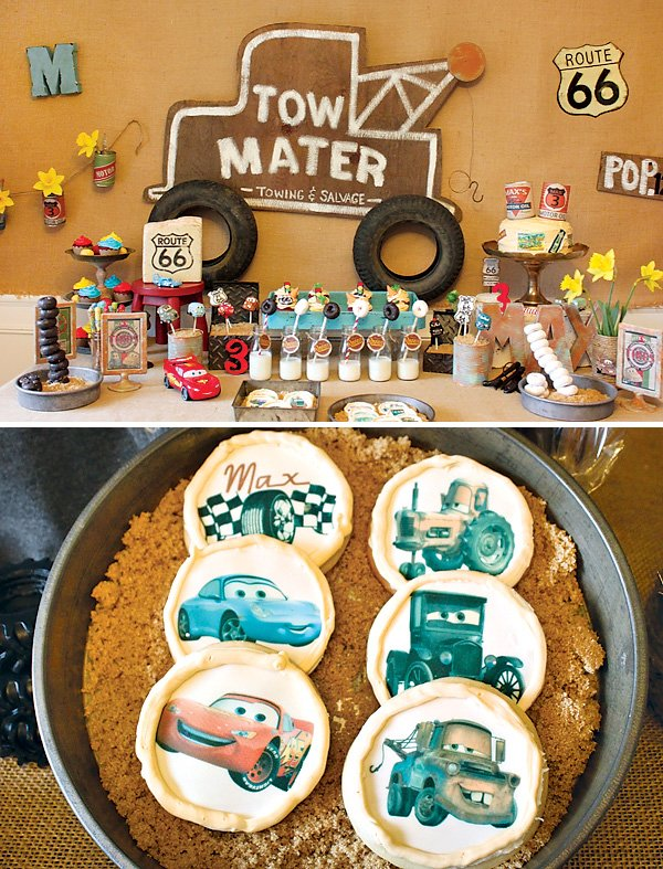 Cars Movie Themed Dessert Table