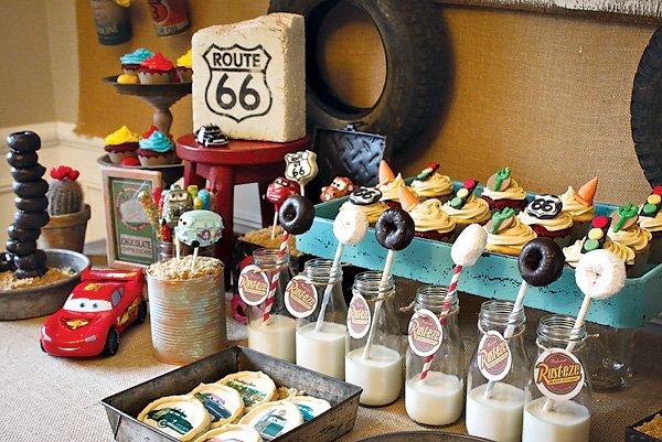 Cars themed desserts