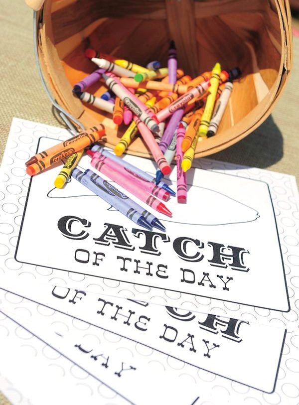Catch of the Day coloring pages