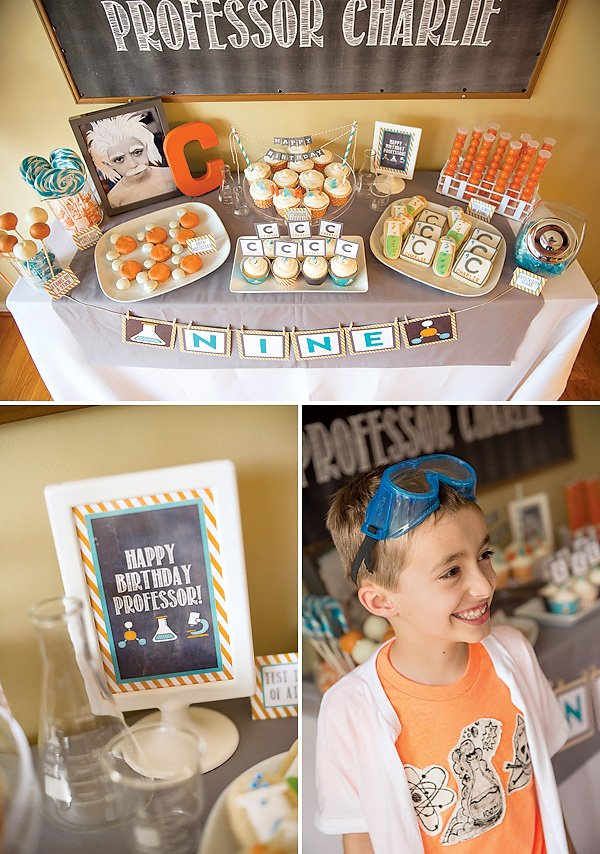 chemistry inspired science birthday party