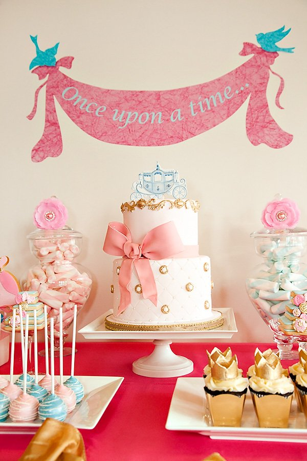 Pink Cinderella Birthday Cake