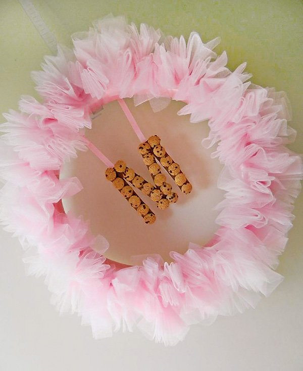pink cookie party wreath