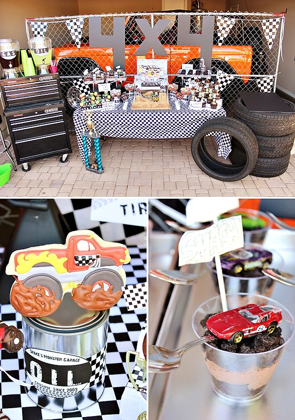 Awesome Monster Jam Truck Party Boys Birthday Hostess with the