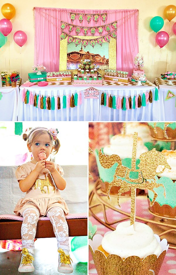 cupcakes and carousels birthday party