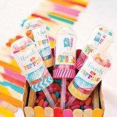 diy popsicle party favors