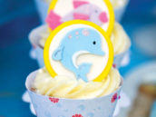 Dolphin and Fish Cupcakes