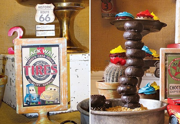 """Donut """"Spare Tire"""" Tower"""