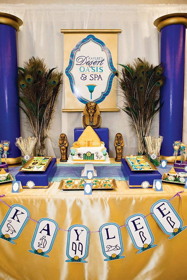 Egyptian themed dessert table