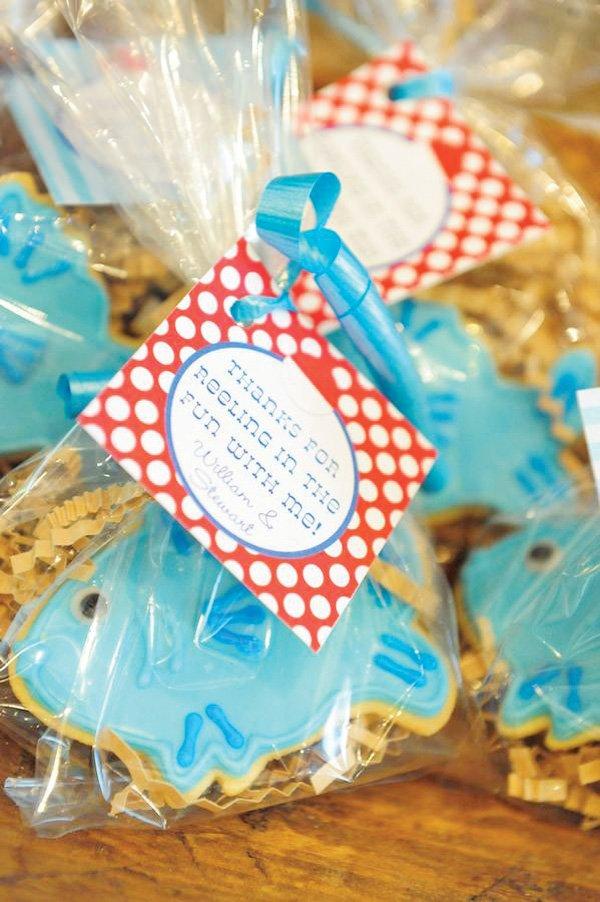 Fish shaped sugar cookies
