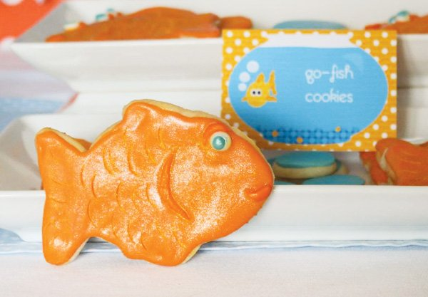 orange fish cookie
