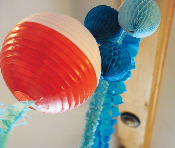 Fishing bobber paper lanterns