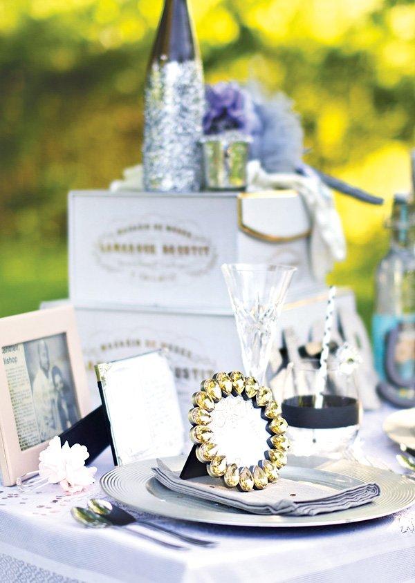 great gatsby wedding table