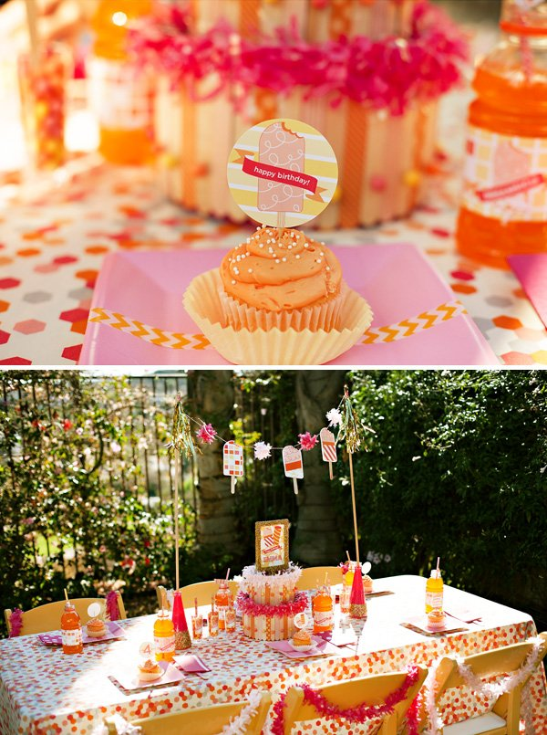 popsicle party cupcakes