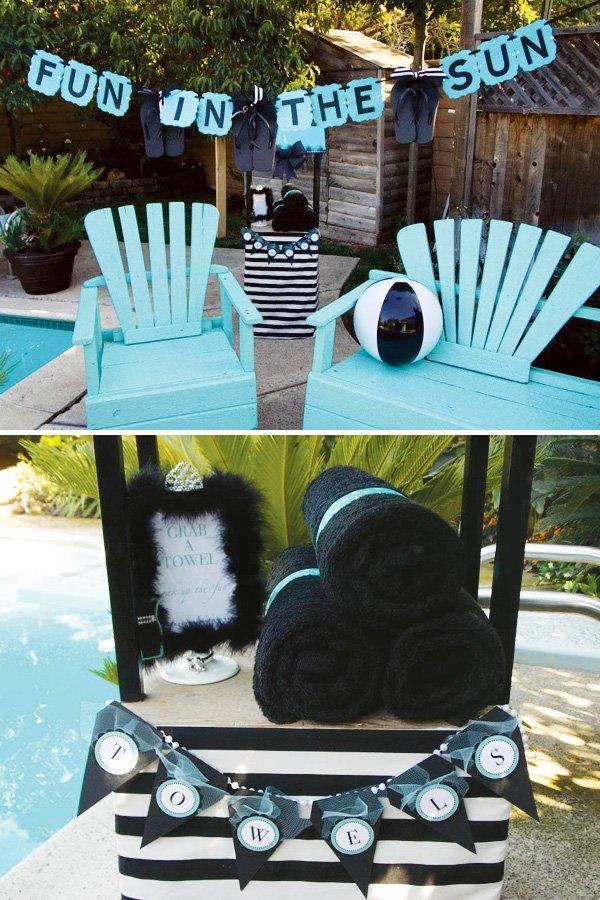 tiffany blue pool party