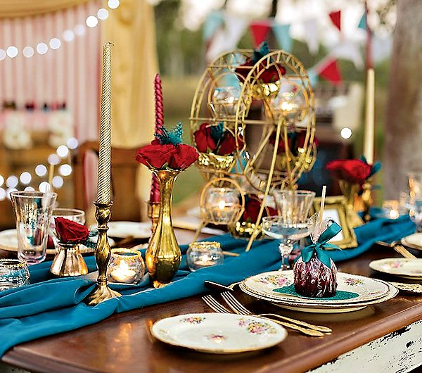 vintage carnival wedding ideas