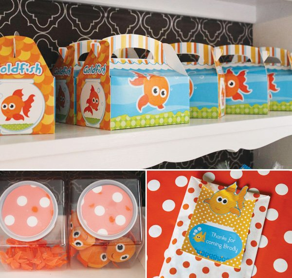 Goldfish printable lunch boxes