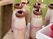 gold glitter flags