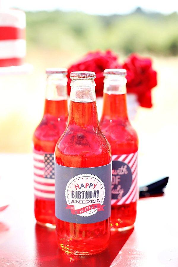 Happy Birthday America party printables