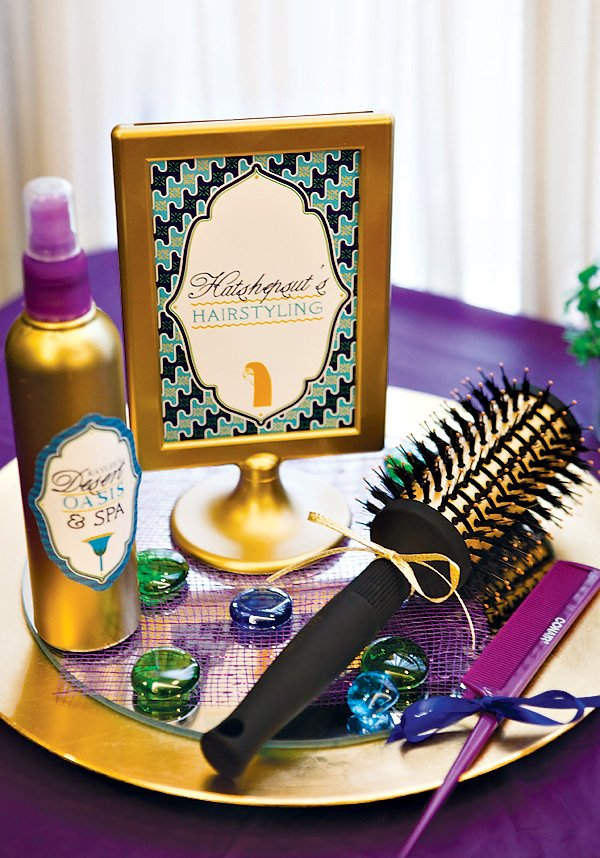 Egyptian Spa Party Hair Styling Station