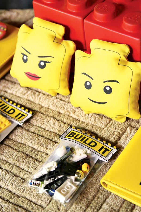 Lego pillow party decorations