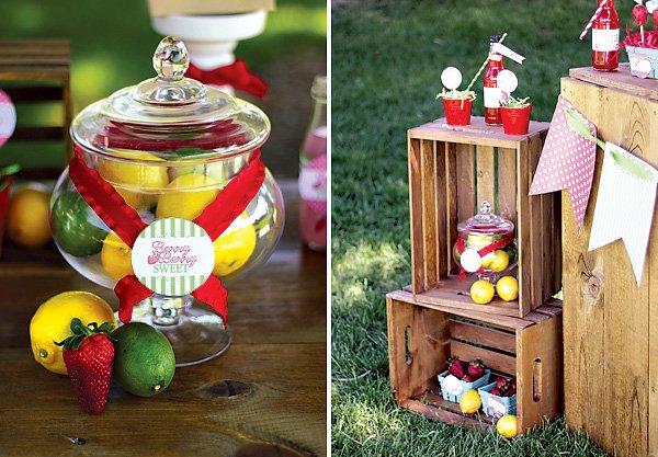 Lemon, Lime & Strawberry Decor