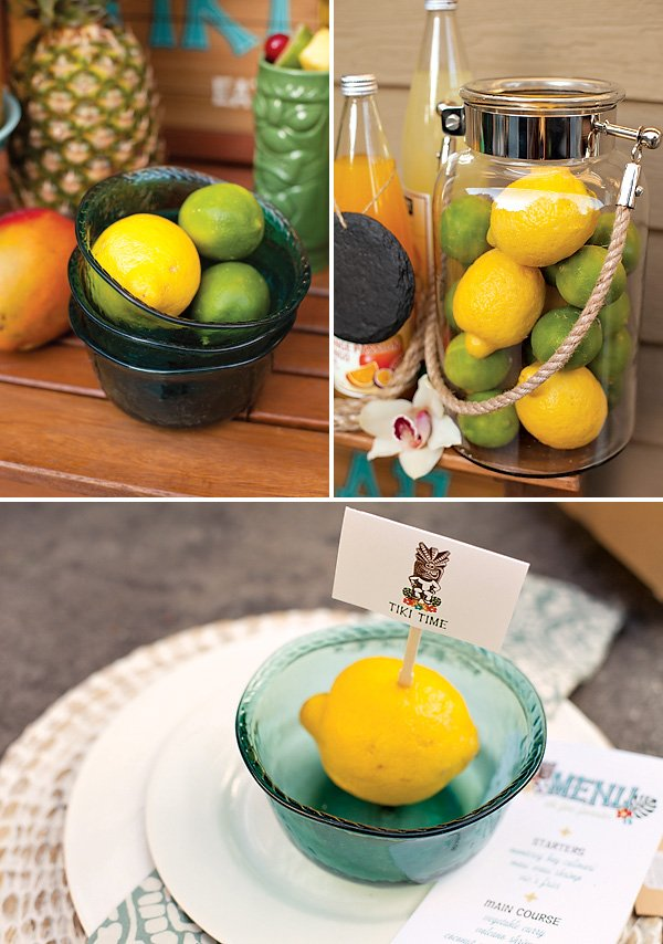 Lemon party decor