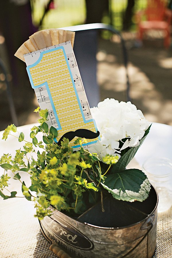 Little Man Vintage Birthday Party Centerpieces