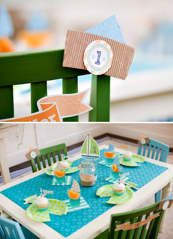 kids ocean inspired tablescape