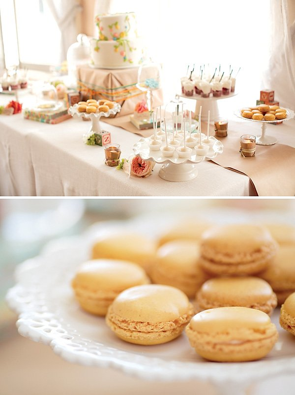 gorgeous vintage inspired dessert table