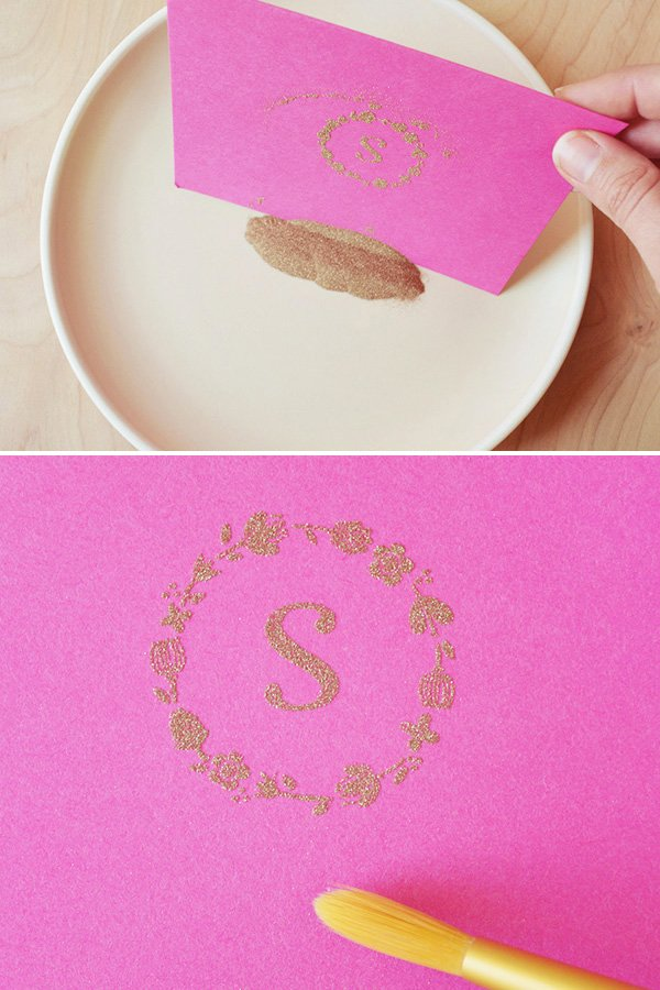 Monogram Notecard DIY Tutorial