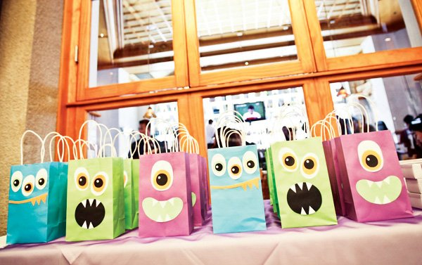 monster face party favor bags